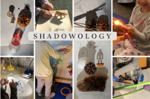 A collage of different shadow art pieces.